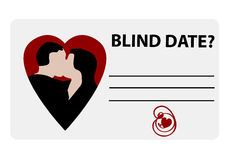 A blind date card Royalty Free Stock Photos