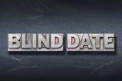 Blind date den Stock Image