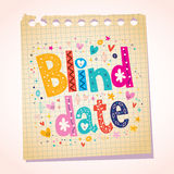 Blind date notepad paper message Royalty Free Stock Images