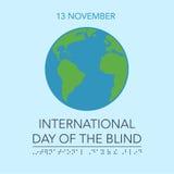 Blind Day  illustration Stock Image