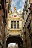 Blind Donkey alley in medieval Bruges Royalty Free Stock Photography
