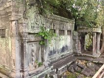 Blind door in Beng Mealea  Angkor Temple, Cambodia. Beng Mealea or Bung Mealea is a temple in the Angkor Wat period located 40 km east of the main group of Royalty Free Stock Photo