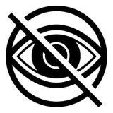 Blind eye icon, simple style. Blind eye icon. Simple illustration of blind eye vector icon for web design isolated on white background stock illustration