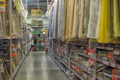 Blind fabric store Royalty Free Stock Images