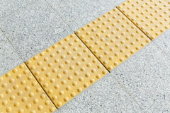 Blind floor tiles Royalty Free Stock Images