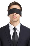 Blind-folded businessman Royalty Free Stock Photo