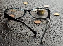 Blind gemacht durch Geld Stockbilder