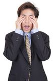 Blind gemachter Geschäftsmann in der Ablehnung Lizenzfreies Stockfoto