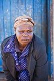 blind half kvinna Royaltyfria Foton