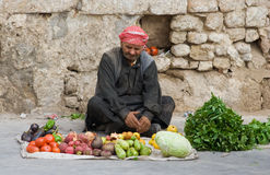 Blind hawker, Syria Royalty Free Stock Photo