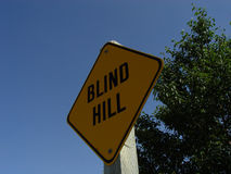 Blind Hill Sign Royalty Free Stock Photography