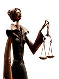 Blind judge. With scales - unfairness bribery and corruption concept Stock Photography