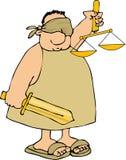 Blind Justice royalty free illustration