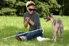 blind kvinna Royaltyfria Foton