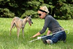 blind kvinna Royaltyfri Foto
