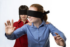 Blind leading the blind Royalty Free Stock Images