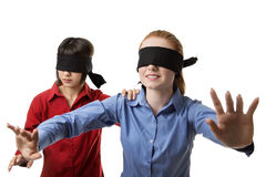 Blind leading the blind Royalty Free Stock Image