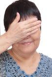 Blind machenaugen Stockfotos