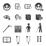 Blind man icon. Web icon illustration design vector sign symbol Stock Photo