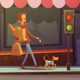 Blind Man Illustration royalty free illustration