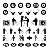 Blind man symbol Royalty Free Stock Photo