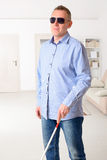 Blind man Stock Images
