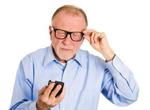 Blind old man Royalty Free Stock Images