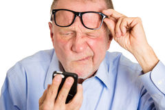 Blind old man Stock Image