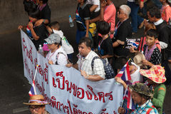 Blind organization at the antigovernment demonstration Thailand Stock Photography