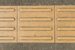 Blind paving texture Royalty Free Stock Images