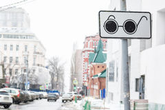 Blind people crossing road sign Royalty Free Stock Photo