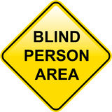 Blind Person Area sign Stock Photos