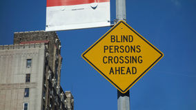 Blind Persons Crossing Ahead Royalty Free Stock Photo