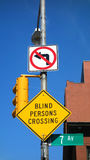 Blind Persons Crossing Stock Photography
