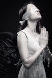 Blind prayer Royalty Free Stock Photo