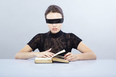 Blind reader Stock Photography