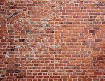 Blind secret hidden entrance in old red brickwall Stock Photo