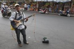 Blind singer in Vietnam  Royalty Free Stock Photos