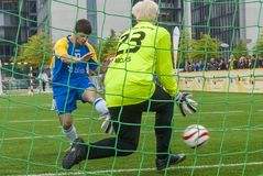 Blind soccer game Royalty Free Stock Image