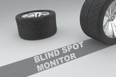 Blind spot monitor safety concept Stock Image