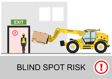 Blind spot risk. Royalty Free Stock Photo