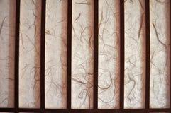 Blind venster gemaakt van moerbeiboomdocument, Okinawa stock afbeelding
