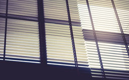 Blind window curtain with Sun Light Interior design Royalty Free Stock Image