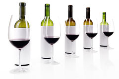 Blind wine tasting on white Royalty Free Stock Image