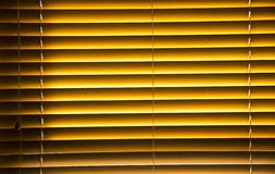 Blind with wooden slats Royalty Free Stock Photography