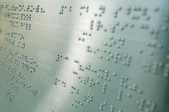 blinda braille Arkivfoton
