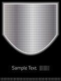 Blindaje abstracto del cromo y fondo negro ilustración del vector