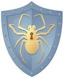 Blindaje con la araña stock de ilustración