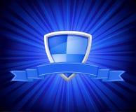 Blindaje con la cinta azul para el mensaje stock de ilustración