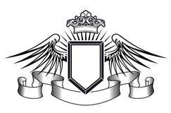 Blindaje de la armería con las alas del ángel stock de ilustración